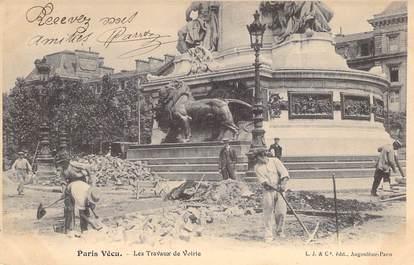 """CPA FRANCE PARIS / PARIS VECU """"Les travaux de voirie"""""""