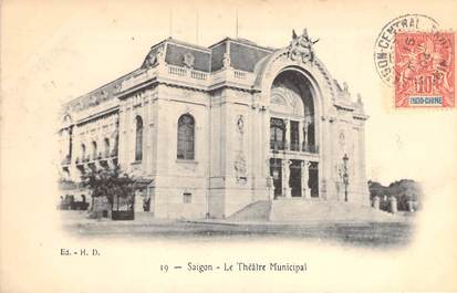 """CPA VIETNAM INDOCHINE """"Saïgon, le Théâtre municipal"""""""