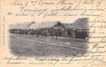 """CPA VIETNAM INDOCHINE """"Tonkin, le Général et son état major"""""""