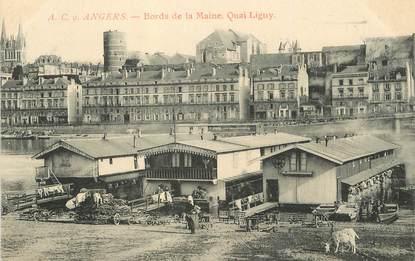 """/ CPA FRANCE 49 """"Angers, bords de la maine"""""""