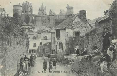 """/ CPA FRANCE 35 """"Vitré, rue Balazé et le château"""""""