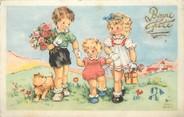 """Illustrateur / CPA ILLUSTRATEUR ANDRÉ LUCE """"Trois enfants et un petit chien"""""""