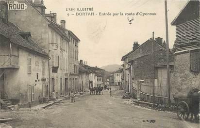 """/ CPA FRANCE 01 """"Dortan, entrée par la route d'Oyonnax"""""""
