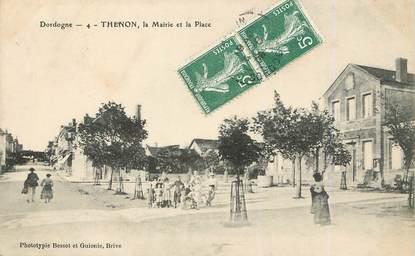 """/ CPA FRANCE 24 """"Thenon, la mairie et la place"""""""