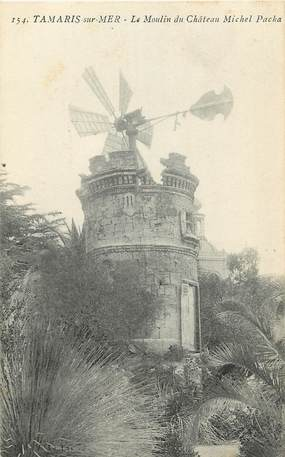 "CPA FRANCE 83 ""Tamaris, le moulin du château Michel Pacha"""
