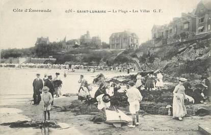 """/ CPA FRANCE 35 """"Saint Lunaire, la plage, les villas"""""""