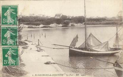 "/ CPA FRANCE 17 ""Saint Georges de Didonne, le port"""