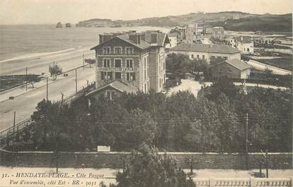 "/ CPA FRANCE 64 ""Hendaye plage, côte Basque"""