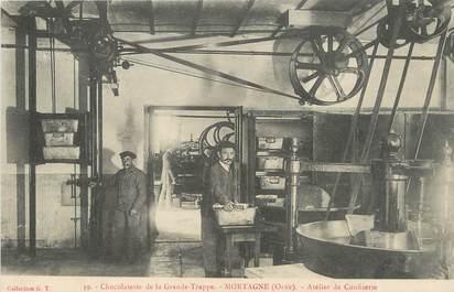 "/ CPA FRANCE 61 ""Chocolaterie de la grande trappe, Mortagne, atelier de confiserie"""