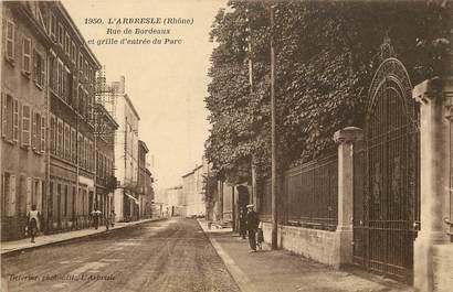 """CPA FRANCE 69 """"L'Arbresle, rue de Bordeaux"""""""