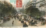 """75 Pari / CPA FRANCE 75002 """"Paris; le Bld Montmartre"""" / ATTELAGE"""
