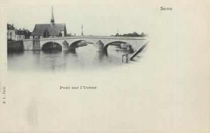 "/ CPA FRANCE 89 ""Sens, pont sur l'Yonne"""