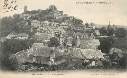 "/ CPA FRANCE 19 ""Turenne, vue générale"""