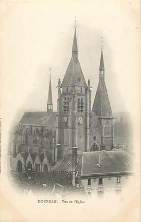"""/ CPA FRANCE 91 """"Dourdan, vue de l'église"""""""