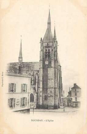 "/ CPA FRANCE 91 ""Dourdan, l'église"""