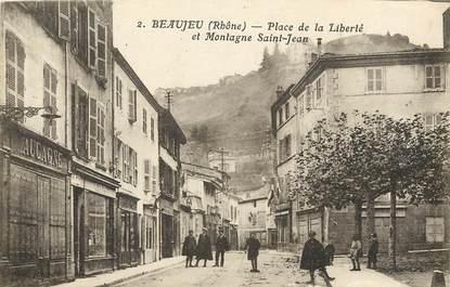"""CPA FRANCE 69 """"Beaujeu, Place de la Liberté"""""""