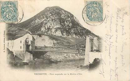 """/ CPA FRANCE 39 """"Thoirette, pont suspendu sur la rivière d'Ain"""""""