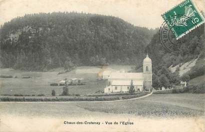 """/ CPA FRANCE 39 """"Chaux des Crotenay, vue de l'église"""""""
