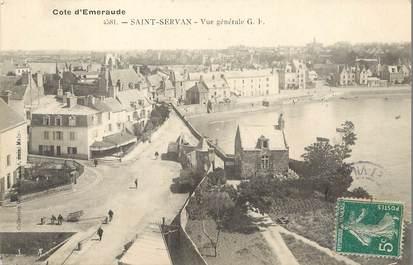 "/ CPA FRANCE 35 ""Saint Servan,  vue générale"""
