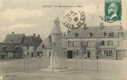 """/ CPA FRANCE 41 """"Droué, le monument et la place"""""""