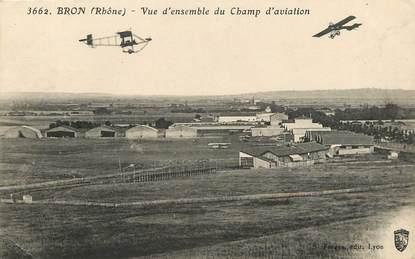 "CPA FRANCE 69 ""Bron, aviation"""