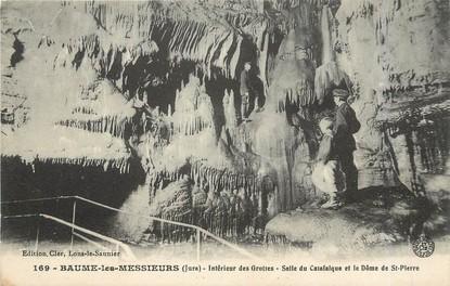 """/ CPA FRANCE 25 """"Baume les Messieurs, intérieur des Grottes"""""""
