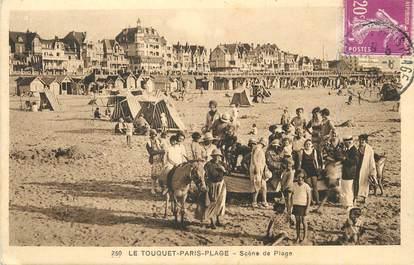 """/ CPA FRANCE 62 """"Le Touquet Paris Plage, scène de plage"""