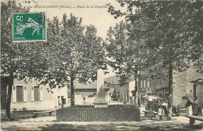 """CPA FRANCE 69 """"Bois d'Oingt, place de la Chapelle"""""""