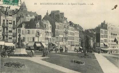 "/ CPA FRANCE 62 ""Boulogne sur Mer, le square Coquelin"""