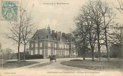 """/ CPA FRANCE 41 """"Chaumont sur Tharonne, château de la Rougellerie"""""""