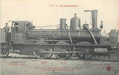 "CPA CHEMIN DE FER / TRAIN / LOCOMOTIVE ""Est, Machine pour trains de marchandises"""