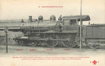 "CPA CHEMIN DE FER / TRAIN / LOCOMOTIVE  ""Machine N° 2856, pour trains express"""