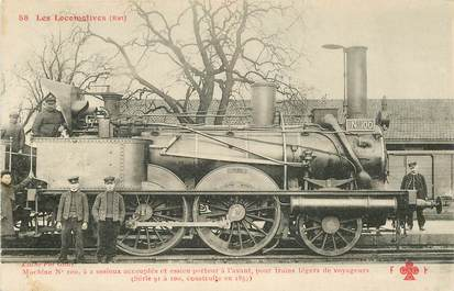 """CPA CHEMIN DE FER / TRAIN / LOCOMOTIVE  """"Machine N° 100 pour trains légers de voyageurs"""""""