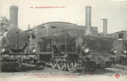 """CPA CHEMIN DE FER / TRAIN / LOCOMOTIVE  """"PLM, Machine N° 5734 pour service de gares"""""""