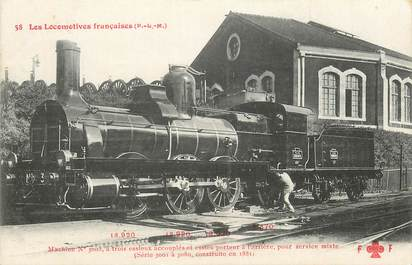"CPA CHEMIN DE FER / TRAIN / LOCOMOTIVE  ""PLM, Machine N° 3003 pour service mixte"""