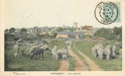"""CPA FRANCE 36 """"Issoudun, vue générale, mouton"""""""