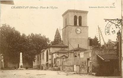 "CPA FRANCE 69 ""Charentay, Place de l'Eglise"""