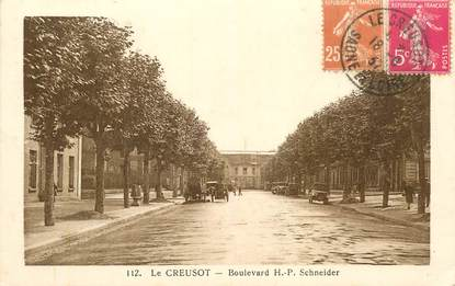"CPA FRANCE 71 ""le Creusot, bld Schneider"""