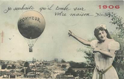 "/ CPA BERGERET ""Bonheur 1906"""