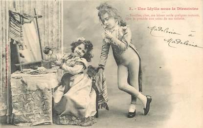 """/ CPA BERGERET """"Une Idylle sous le directoire"""""""