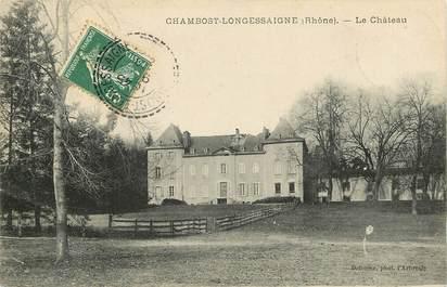 """CPA FRANCE 69 """"Chambost Longessaigne, le Château"""""""