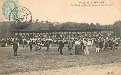 """CPA FRANCE 14 """"Deauville, le champ de courses, ensemble des Tribunes"""""""
