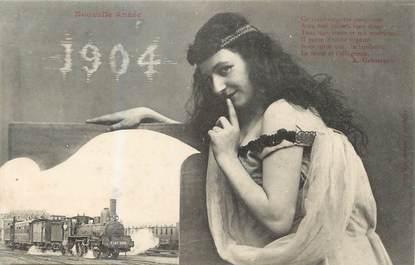 """/ CPA BERGERET """" Nouvelle année 1904"""""""