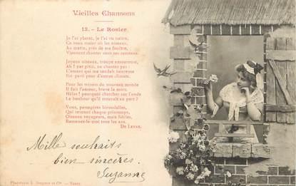 """/ CPA BERGERET """"Vieilles chansons, le rosier"""""""
