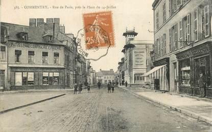 """CPA FRANCE 03 """"Commentry, rue de Paris, près de la Place du 14 juillet"""""""