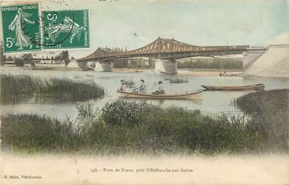 """CPA FRANCE 69 """"Pont de Frans près de Villefranche sur Saône"""""""