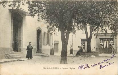 """CPA FRANCE 83 """"Plan de la Tour, Place de l'Eglise"""""""