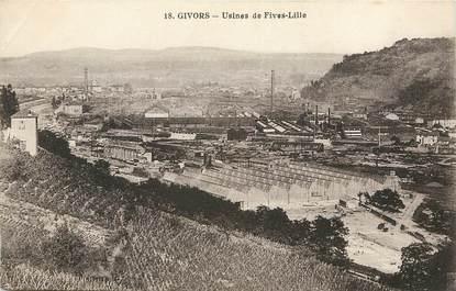 "CPA FRANCE 69 ""Givors, usines de Fives Lille"""