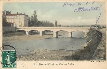 """CPA FRANCE 69 """"Givors, le pont sur le Gier"""""""