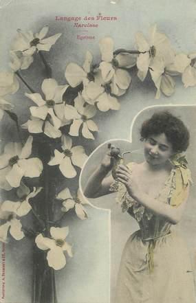 "/ CPA BERGERET ""Langage des fleurs, Narcisse"""
